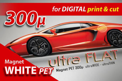 "Slika za Guandong Magnetic Rolls - bijela magnetna PET ""ultra flat"" folija za digitalni tisak"