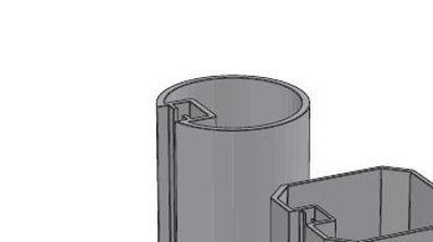 Slika za Alusign Outdoor okrugli stup, 1 kanal