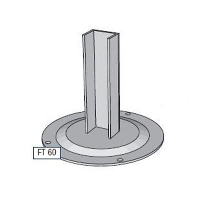Slika za Alusign Outdoor noga za okrugli stup, 2 kanala