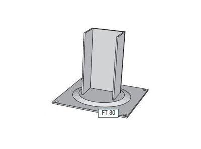 Slika za Alusign Outdoor noga za pravokutni stup, 1 kanal