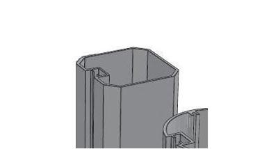 Slika za Alusign Outdoor pravokutni stup, 1 kanal